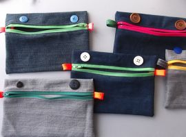 Trousse plate denim monstre